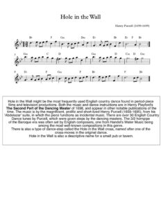 thumbnail of Hole-in-the-Wall-sheet-music
