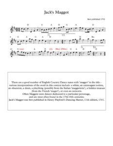 thumbnail of Jacks-Maggot_sheet-music