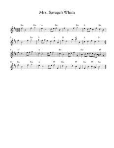 thumbnail of Mrs-Savages-Whim_sheet-music