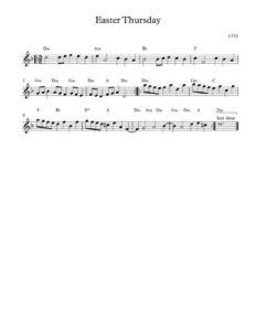 thumbnail of Easter_Thursday-sheet-music