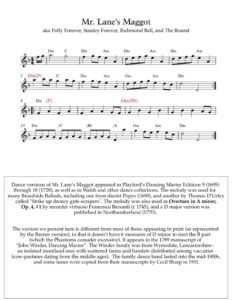 thumbnail of Mr_Lanes_Maggot-sheet-music-Full-Score